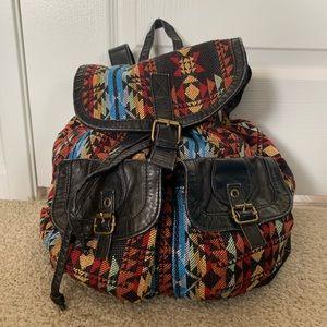 Handbags - Geometric Print Backpack